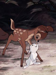 Bambi and Thumper #disney #bambi