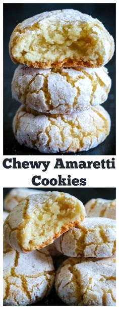 Gluten free cookies - Chewy Italian Amaretti cookies A quick and easy gluten free cookie thats perfect for the holidays amaretticookies italiancookies glutenfree glutenfreecookies meringuecookies Italian Cookie Recipes, Italian Cookies, Easy Italian Desserts, Quick Cookie Recipes, Italian Almond Biscuits, Italian Snacks, Italian Foods, French Recipes, Snickers Fudge