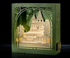 Pop Up 3d Card Miniature Architecture paper scale model Budapest Fisherman's Bastion, Hungary, Halászbástya, paper craft, kirigami, origami