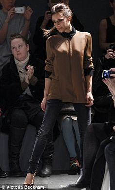 VB after her Victoria by Victoria Beckham show, NYFW