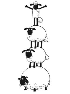 14 Shaun the Sheep printable coloring pages for kids. Find on coloring-book thousands of coloring pages. Colouring Pages, Coloring Pages For Kids, Coloring Books, Shaun The Sheep, Sheep And Lamb, Animal Drawings, Cute Drawings, Sheep Drawing, Foto Picture