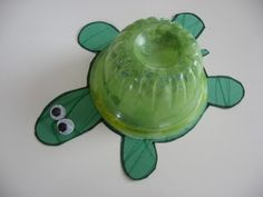 Make a turtle and use a disposable fruit bowl as the shell. Genius! :)