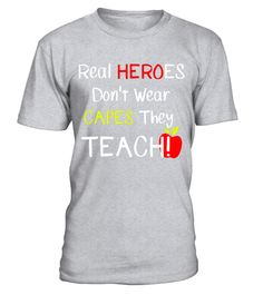 "# Real HEROES Don't Wear CAPES They TEACH! Student Teacher Tee .  Special Offer, not available in shops      Comes in a variety of styles and colours      Buy yours now before it is too late!      Secured payment via Visa / Mastercard / Amex / PayPal      How to place an order            Choose the model from the drop-down menu      Click on ""Buy it now""      Choose the size and the quantity      Add your delivery address and bank details      And that's it!      Tags: Super and Trendy Tee…"