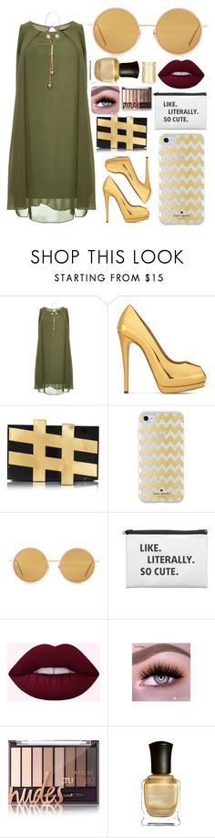 """Untitled #132"" by kweencupcake08 on Polyvore featuring Dorothy Perkins, Giuseppe Zanotti, Charlotte Olympia, Kate Spade, Acne Studios, Deborah Lippmann and Jules Smith"