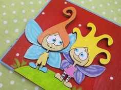 Personalized Door Sign with a Fairy couple  Red by TurgemanDana  #door_sign #family #kids #kids_room #front_door #room_decor #name #personalized #blue #funny #family #dana_turgeman