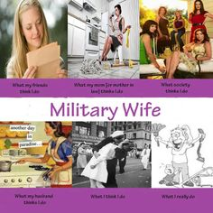 Military Wife - What my friends think I do; What my mother thinks I do; What society thinks I do... militaryblog.militaryavenue.com