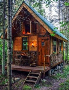 60 Cabin Style Small House Ideas 29