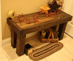 Beautiful Primitive Look Dark Walnut Stained by UniquePrimtiques, $50.00