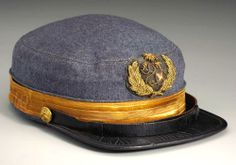 Rare Confederate Naval Officer's Cap ~ From the Civil War Parlour
