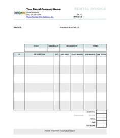 Medical Invoice Format In Word
