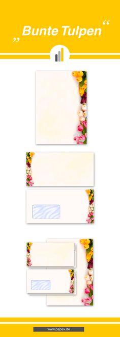 Briefpapier / Motivpapier BUNTE TULPEN - Sagen Sie es »durch die Blume« mit unseren variantenreichen Blütenmotiven oder Designs aus vielen anderen Themenbereichen, um einem persönlichen Schreiben den richtigen Rahmen zu verleihen. Das Verwenden Sie unsere Produkte als Werbewirksame Zielgruppenmailings, Weihnachtsgrüße, für Angebote, als Saison-Briefpapier, für Einladungen, Glückwünsche, Speisekarteneinlagen, Aktionsprogramme, Feste, als Aushang im Schaufenster und für weitere tausend…