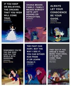Lessons you learn watching Disney!