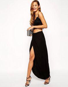 ASOS COLLECTION ASOS Wrap Maxi Skirt in Jersey