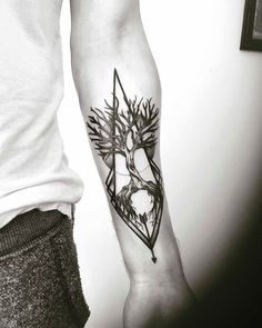 Geometric nature tree of life tattoo