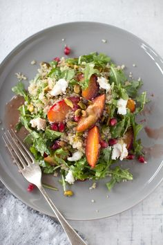 Plum and Quinoa Salad with Pomegranate Dressing | 32 Ways To Eat Quinoa And Succeed In Life