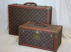 Vintage LOUIS VUITTON TRAVEL 1930's trunks. I love trunks!!