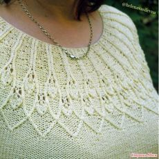 Ravelry: Kupava Top pattern by Alena Malevitch Knitting Stitches, Knitting Needles, Knitting Patterns Free, Stitch Patterns, Top Pattern, Free Pattern, Crochet Baby, Knit Crochet, Nordic Sweater