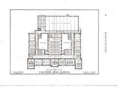 Creston High School, 1922 original blue prints, 3rd Floor.