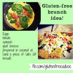 Try this healthy breakfast (or brunch) idea! #glutenfree #healthyfood #foodidea
