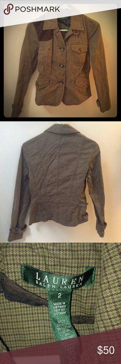 Ralph Lauren Checkered Jacket Asymmetrical patched jacket. In great condition. Ralph Lauren Jackets & Coats Blazers