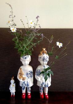Pop XXL Open heart NIEUW. Clonette dolls by Lammers en Lammers, two Dutch sisters who make traditional Dutch figures in porcelain studiodewinkel.nl