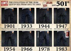 Levis 501 Um dos maiores símbolos Worker. Esse jeans foi lançado a mais de um século,e a Levis, marca que o lançou, mantém esse modelo até hoje.
