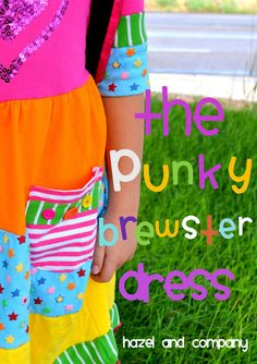hazel and company: The Punky Brewster Dress Tutorial {aka an upcycled scrappy dress} & the Earring Giveaway Winners!