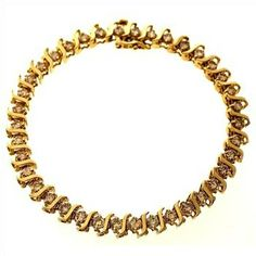 4.00ctw Diamond 10kt Gold Bracelet  http://www.propertyroom.com/listing.aspx?l=9414640