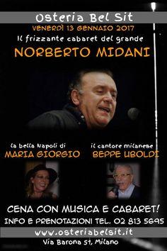 Venerdì 13 gennaio 2017 Norberto Midani