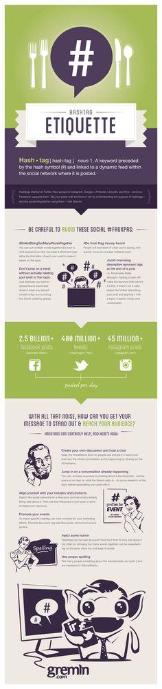 Hashtag Etiquette - #Infographic