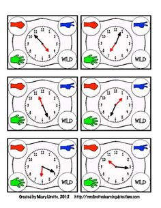 Rock, Paper, Scissors: Telling Time to the Nearest Minute- math game aligned with CCSS for 3rd grade