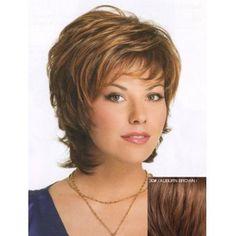 Fluffy Fashion Inclined Bang Natural Wavy Human Hair Short Layered Capless Women's Wig (30#) in Human Hair Wigs   DressLily.com