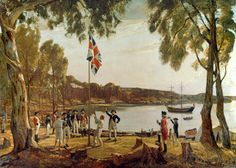 January Founding of Australia - The first European settlers in Australia, led by Capt. Arthur Phillip of the Royal Navy, lands in present-day Sydney. This day is commemorated as Australia Day. Australian Aboriginals, Happy Australia Day, Today In History, As Time Goes By, History Images, American War, Great Barrier Reef, British Library, Royal Navy