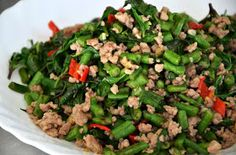 A Daily Obsession: Vietnamese Long Beans With Thai Basil & Pork Mince