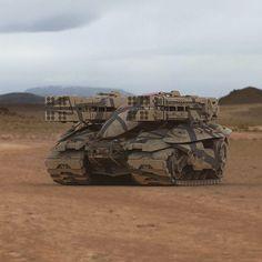 Desert Tank, James Simmons on ArtStation at https://www.artstation.com/artwork/WP1aG