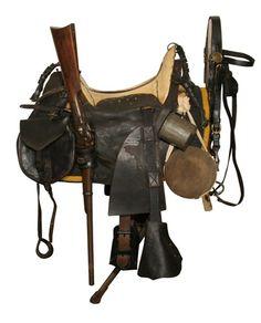 Pattern 1859 McClellan saddle with field equipment Pattern 1859 McClellan saddle with field equipment Horse Gear, Horse Tack, Horse Saddles, Western Saddles, Cowboy Gear, Memorial Museum, Civil War Photos, Le Far West, American Civil War