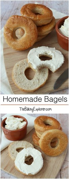 Delicious Homemade Bagels - easy to make bread, perfect smeared with cream cheese! Great for a weekend project, making them with the kids, versatile and can be topped with anything you like!