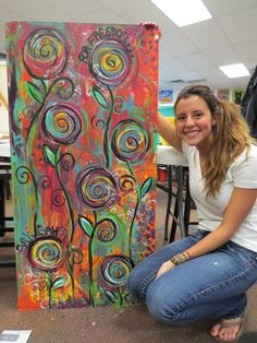 """Explore our internet site for additional relevant information on """"abstract art paintings acrylics"""". It is actually an exceptional area to find out more. Wal Art, Wine And Canvas, Flower Canvas, Arte Pop, Painting Techniques, Painting Inspiration, Journal Inspiration, Love Art, Art Lessons"""