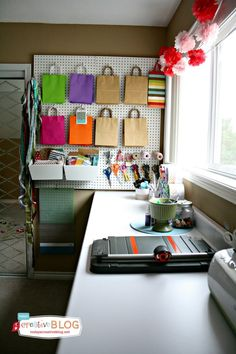 Gift Wrapping Center | Craft Room | | TodaysCreativeBlog.net