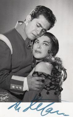 "Giuseppe di Stefano + Jean Madeira   "" Carmen "" Wien 1958"