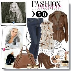"""How you will dress a woman over 50 fashionable and with fantasy"" by marija-marjanovic on Polyvore - yes, this! now make it all in petite sizes so I can stop shopping in the juniors department"