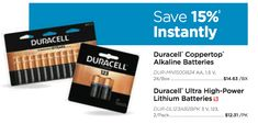 Need to recharge? We'll save you 15% instantly when you purchase Duracell Coppertop Alkaline Batteries from us today! www.indoffbusinessproducts.com?utm_content=bufferb77f0&utm_medium=social&utm_source=pinterest.com&utm_campaign=buffer