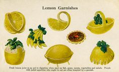 Lemon garnishes.