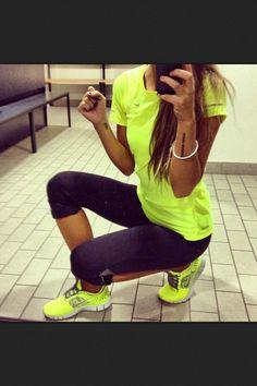 Neon Nike wear