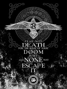 Fear Not Death... Black Raven Poster