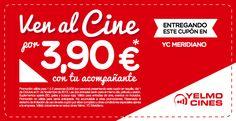 ¿Quieres ver una película en Yelmo Cines Meridiano por 3,90 euros? Imprime este cupón y entrégalo en las taquillas de las salas de nuestro centro ¡Menuda oportunidad!