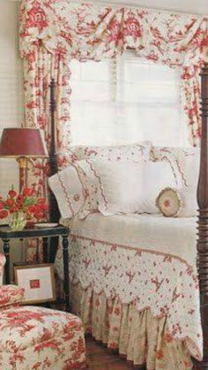 Pretty bedding and draperies #bedding
