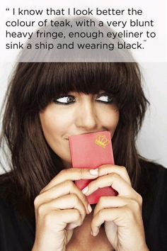 And that smudgy eye make-up. | 17 Reasons To Love Claudia Winkleman