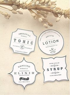 Free Vintage & Apothecary-Style Labels