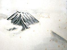 Vintage Japanese Painting Mount Fuji Mt Fuji by VintageFromJapan, $25.00